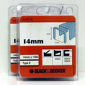 Black & Decker A5910 Type 2 Staples 10mm B&D A5918 BD418 DN418 (2 Packs)