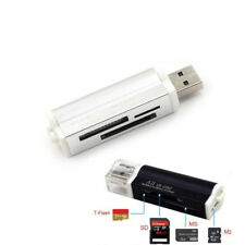 All in 1 USB2.0 Multi Memory Card Reader For SD SDHC TF M2 Memory Stick SilverSC