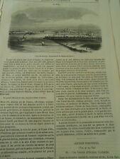 Saumur  Dpt de Maine et Loire 1845 Gravure Print Article