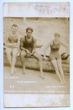 Vintage 1910s Hawaiian Swimming Surfing Duke Kahanamoku & Francis Cowell RPPC