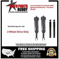Full Set Dodge Ram1500 2 Front Complete Struts & 2 Rear Shocks Fits 4WD Only