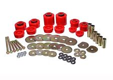 Energy Suspension Body Mount Set Red for 80-98 F-250 / 80-97 F-350 # 4.4123R