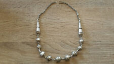 Vintage Yemen marriage solid silver necklace beads circa 1930 tribal ethnic