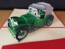 3D Pop Up Auto D'epoca CARD. idealmente per festa del papà, compleanno o tutte le occasioni