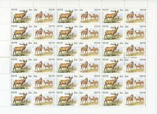 RUSSIA 1999 SC# 6514 Full Sheet, Red Deer, Joint Issue with China, MNH