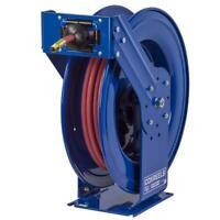 300 PSI 25/' hose 1//2 I.D. 25 hose Coxreels P-LP-425-AL Spring Rewind Hose Reel for air//water