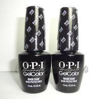(2pc) OPI GelColor Base Coat GC 010 Soak Off LED/UV Gel .5oz +BONUS