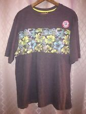 Distortion Floral Black Tshirt - XL
