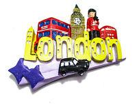 LONDON ENGLAND UK TELEPHONE BOOTH TAXI FRIDGE MAGNET RESIN BRITISH SOUVENIR