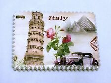 """1 Resin Fridge Magnet (2.5"""" x 3"""") A Flower In Rome, Italy, Free Shipping"""
