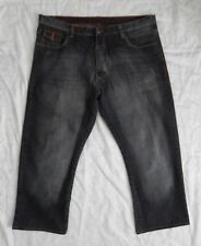 Vintage Karl Kani Gold Loose Baggy Jeans Faux Leather Trim Men's 46 x 29