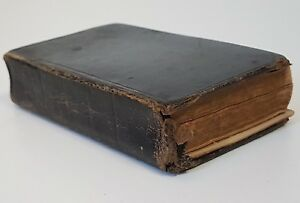 Antique Church Prayer Book Early 1800s Inscription Dated 1825 - ROUGH