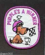 Arctic Cat Snowmobile Patch  PURPLE IS A WINNER Vintage for hat or jacket!