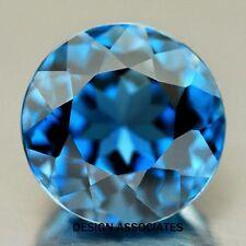 NATURAL LONDON BLUE TOPAZ 6.5 MM ROUND CUT VVS