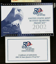 Replacement Box Clad 2002 50 State Quarters Blue Proof Box & Coa Only
