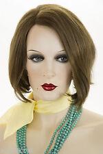 Light Chestnut Brown Brunette Medium Human Hair  Straight Wigs