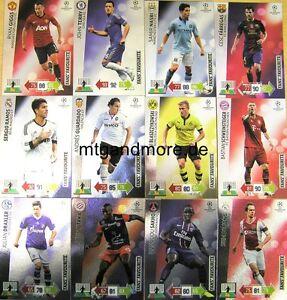 Adrenalyn XL Champions League 2012/2013 -  Fans Favourites aussuchen