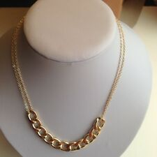 Gold Chunky  Double Chain Necklace
