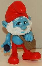 "2011 Papa Smurf 2.75"" Jakks Pacific PVC Plastic Action Figure Movie Toy Smurfs"