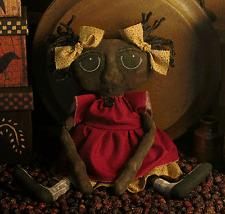 PATTERN Primitive Black Doll Primitive Mammy Doll Extreme Primitive Black Doll