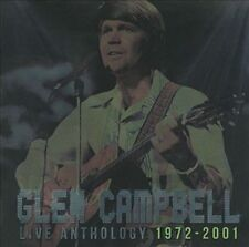 GLEN CAMPBELL Live Anthology: 1972-2001 CD/DVD Rhinestone Cowboy Southern Nights