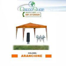 Gazebo pieghevole impermeabile in alluminio 3x3m Arancione - Mod. Ignis