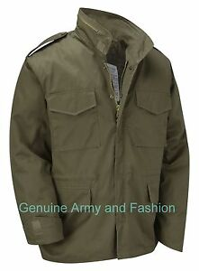 M65 Jacket Army Military Combat US Field Quilted Liner Winter Coat Vintage Olive