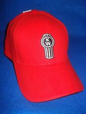 KENWORTH HAT:     RED / SOLID CLOTH / BRASS VENTS  *FREE SHIPPING TO THE U.S.A.*