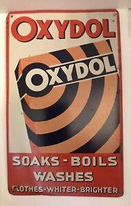 Rare Original (1930's) Sign Advertising Oxydol Washing Powder.