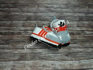 Free Shipping Crochet BABY Athletic Sneakers ADIDAS Tennis HANDMADE Shower Gift