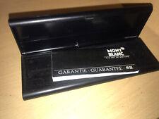 Mont Blanc Original Black Plastic Pen Case With Booklet Vintage