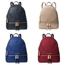 Michael Kors Rhea Zip Medium Leather Signature Backpack School Bag