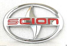 RED SCION Oval Sticker Badge Emblem Top quality Xa Xb Xc Xd TRD