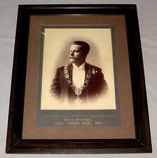 Original Quebec 1884 Saint Jean-Baptiste Society President Framed Photo