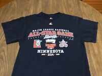 Minnesota Twins MLB Baseball All Star Game History Medium Navy T Shirt Majestic