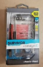 Griffin Survivor Waterproof and Catalyst for iPhone 5 5s Used Black