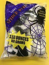 Halloween Giant Black & White Spiders Web 3.53 oz/100gms Fantastic Party Dec
