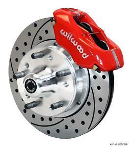 "Wilwood 70-78 Camaro Firebird Front Disc Brake Kit 11"" Drilled Rotor Red Caliper"