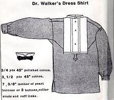 Civil War DRESS SHIRT PATTERN Period Impressions 753 Dr. Walker's Dress Shirt