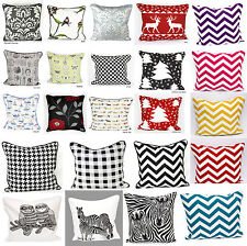 "100% Cotton New Designs Quality Fabric attractive Cushion Covers Size 18""x18"""