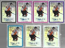 2016-17 Leaf Metal Ty Dellandrea BA-TD1 Pink Prismatic Auto RC 4/10 Firebirds