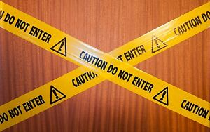 Prank barrier tape  x 10m - CAUTION DO NOT ENTER
