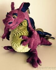"Manhattan Toy FRANCESCA DRAGON Royal Renaissance 8"" Plush 2003 Purple Green XX"