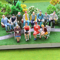 12pcs 1:22.5-1:25 All Seated Painted People G scale Figure Model Railway P2509