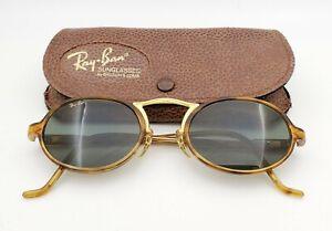 Vintage B&L Ray Ban Bausch & Lomb G15 Gray Tortoise Oval Cheyenne III w/Case
