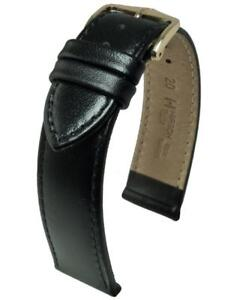 Hirsch Osiris Italian Calf Leather Watch Strap in Brown or Black Choice of Size