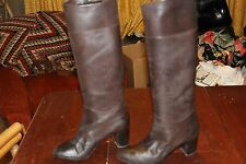 TALL VINTAGE Ladies ITALIAN LEATHER FASHION BOOTS 9 M