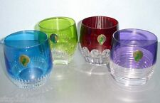 Waterford MIXOLOGY Tumbler Double Old Fashioned Colored Glasses SET/4 160453 New