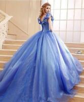 Cinderella Prom Quinceanera Ball Gown Tulle Halloween Evening Dress Party Gowns