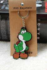 super mario brothers yoshi silicone keychain cute cartoon comic key chain new